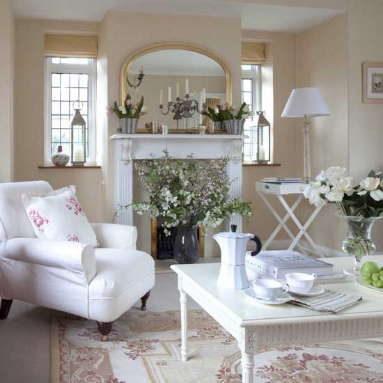 Beautiful Living Room Styles: Styl Cottage (styl Wiejski)