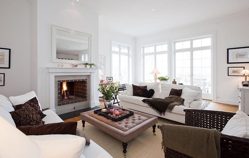 Salon z kominkiem blog designbywomen for New england design homes