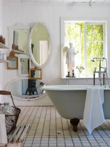 łazienka Z Dekoracją Ramek W Stylu Shabby Chic Blog