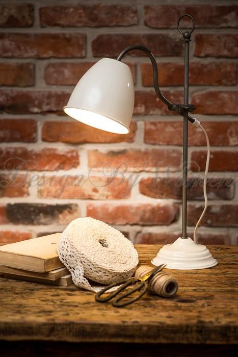 Lampa stołowa - biurkowa kremowa