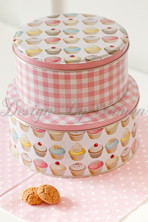 Metalowe Puszki Cupcakes