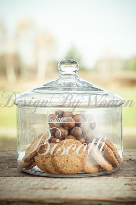 Słój-bomboniera Biscotti-Chocolate
