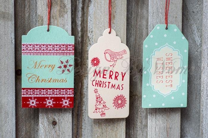 zawieszki na świąteczne prezenty