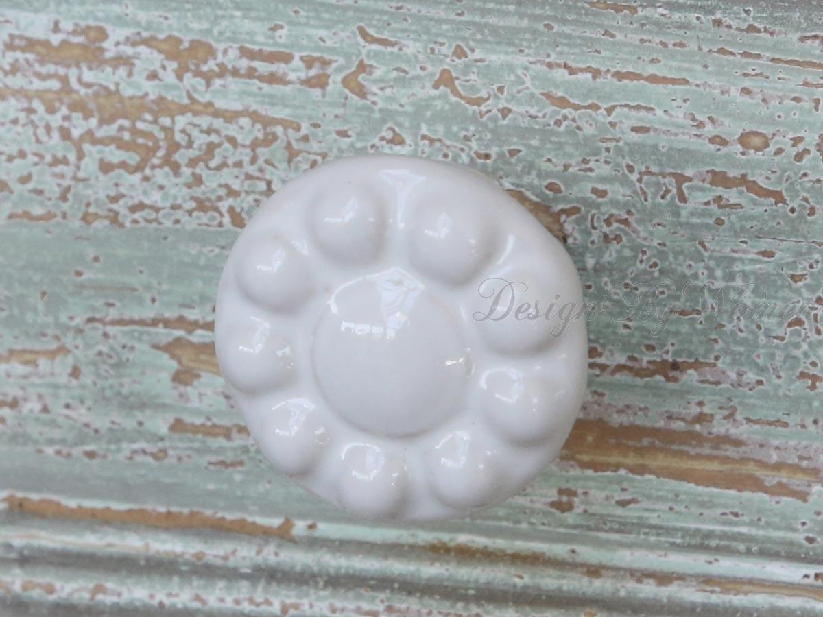 Gałka Daisy-White ,Uchwyt do mebli
