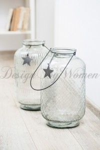 Lampion Stars -wys. 39 cm