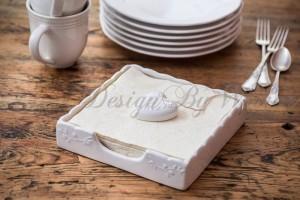 Serwetnik ceramiczny z serduszkiem